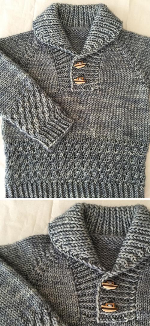 Boy Sweater - Knitting Pattern