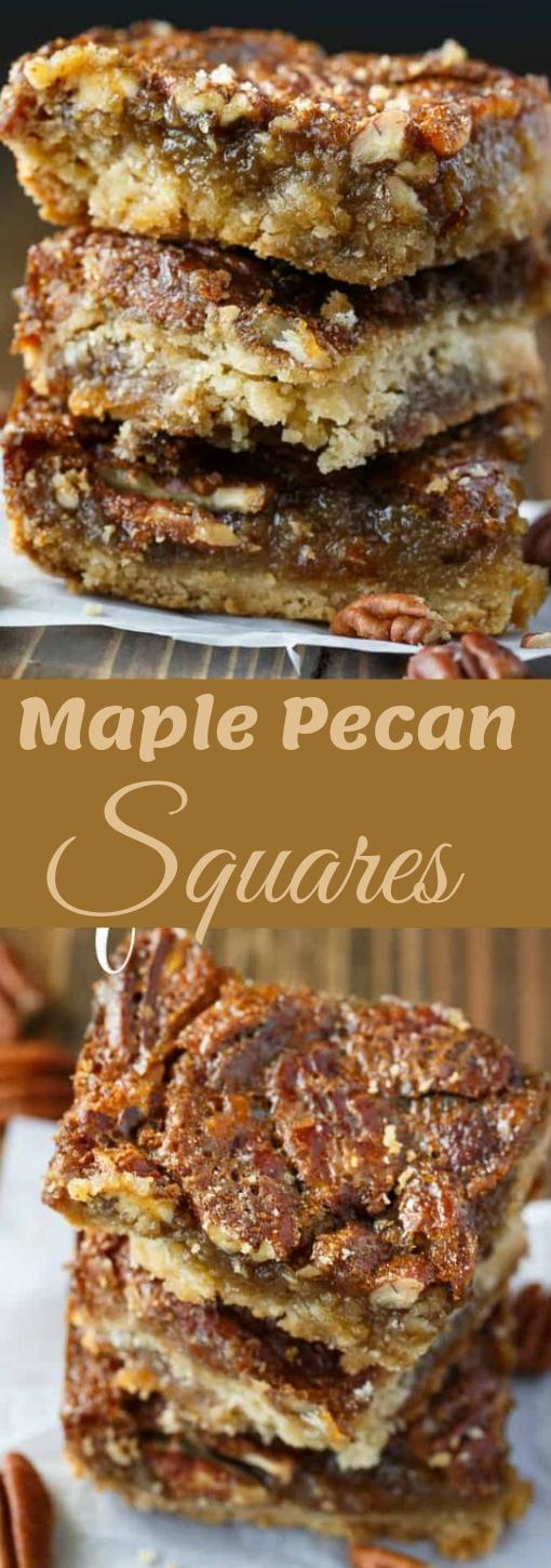 Maple Pecan Squares #cake #dessert