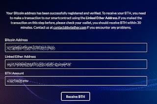Cara Claim Bytether (BTH) Dengan Saldo Bitcoin Di Blockchain