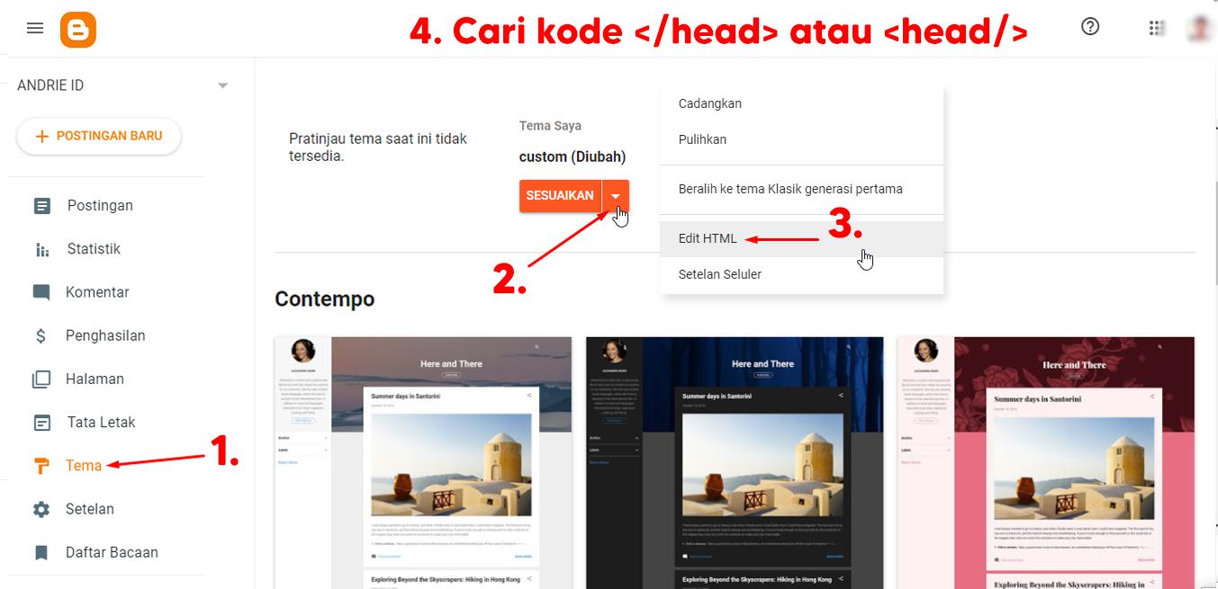 Cara Memasang Widget Google Translate (Multi-Language) di Blogger Mirip Seperti Blog ANDRIE ID