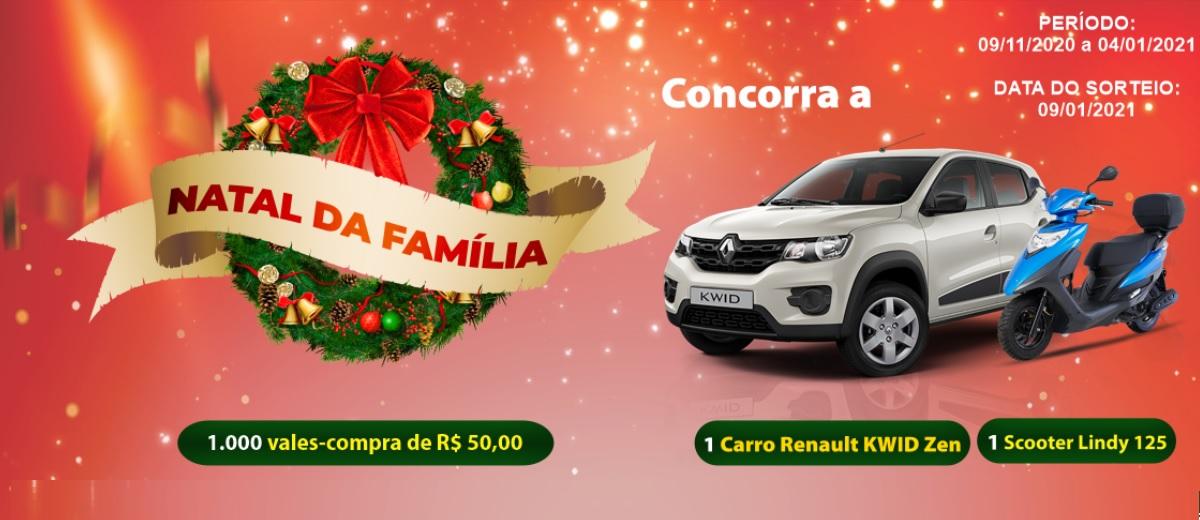 Promoção ACE Jundiaí Natal 2020 da Família Carro Moto e Vales-Compras