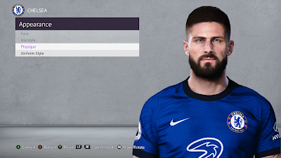 PES 2021 Faces Olivier Giroud for PES 2020