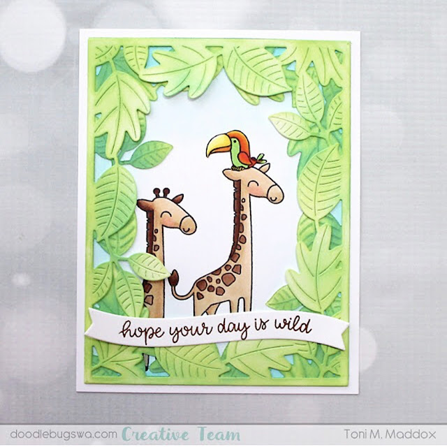 Sunny Studio Stamps: Savanna Safari Customer Card by Toni Maddox