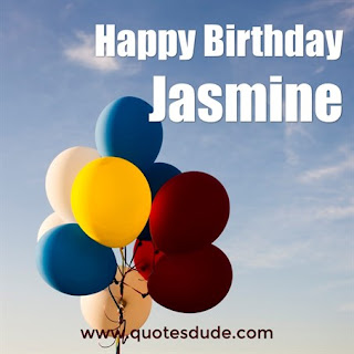 Message for Jasmine's Birthday.