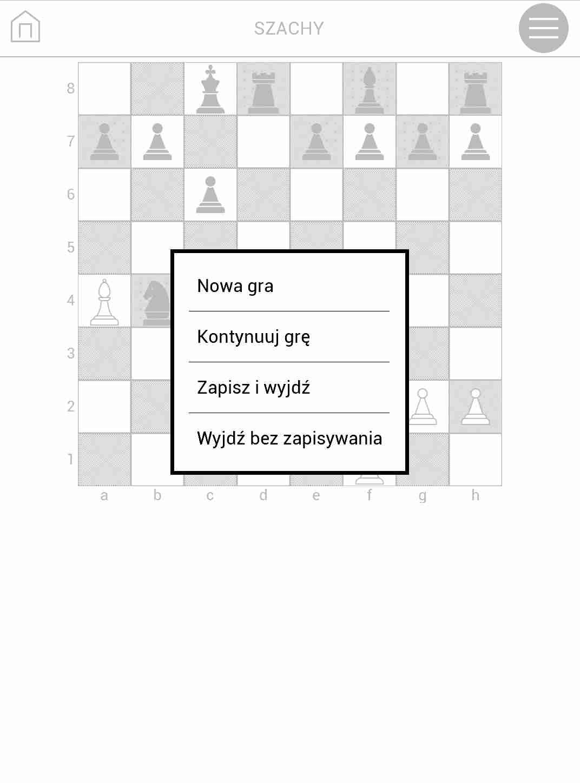 gra szachy na czytniku PocketBook TouchHD2