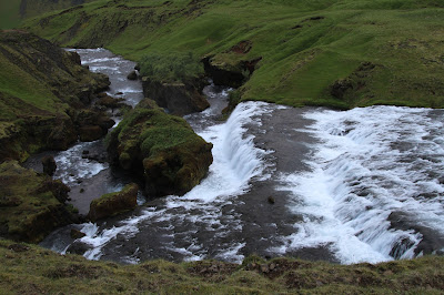 Waterfalls on the Skógá River