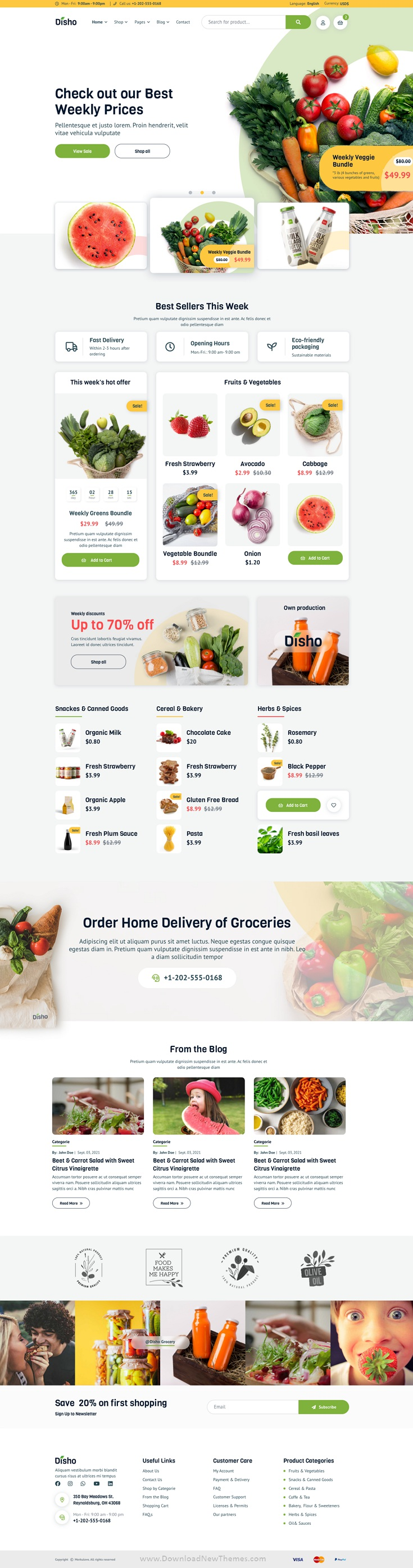 Grocery Store Template for Figma