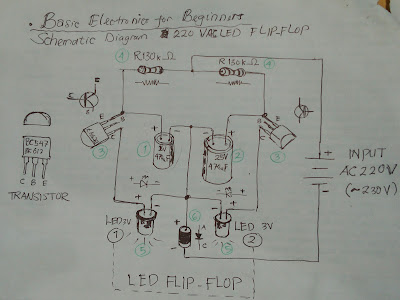 Wiring Diagram Led Flip Flop AC 220 Volt, AC 220 Volt Led Flip Flop Wiring Diagram
