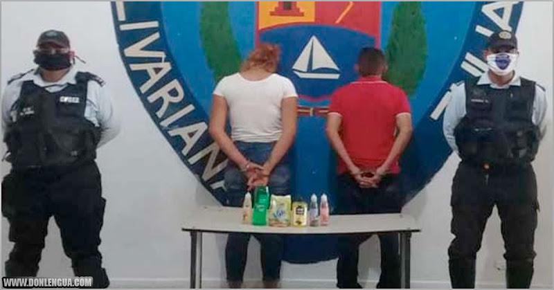 Parejita detenida en El Vigía por robar jabones y champú en el Farmatodo