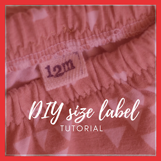 DIY size label tutorial