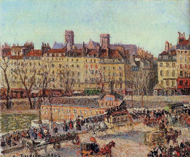 1902. Camille Pissarro - The Baths of Samaritaine, Afternoon