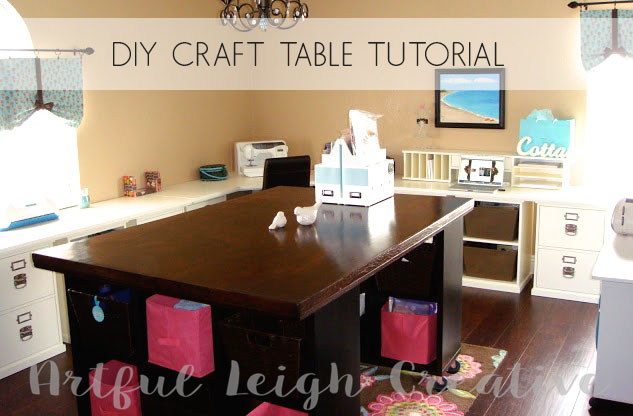 Awesome Artful Leigh Diy Craft Table Tutorial Download Free Architecture Designs Embacsunscenecom
