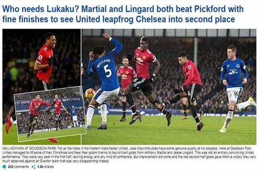 """MU hạ Everton: Báo chí Anh mừng như """"bắt được vàng"""", khen Mourinho hết lời 1"""