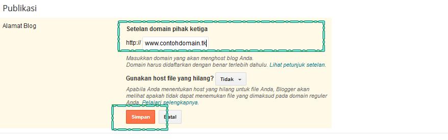 Cara memasang Custom Domain TLD dari Freenom pada Blogspot