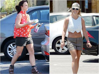 Брітні Спірс до і після тренувань