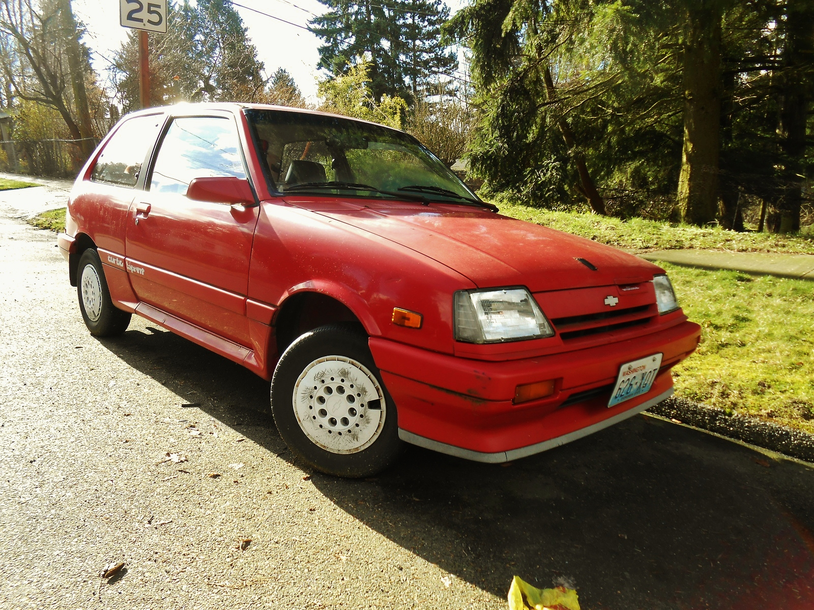 Seattle's Parked Cars: 1987 Chevrolet Sprint Turbo