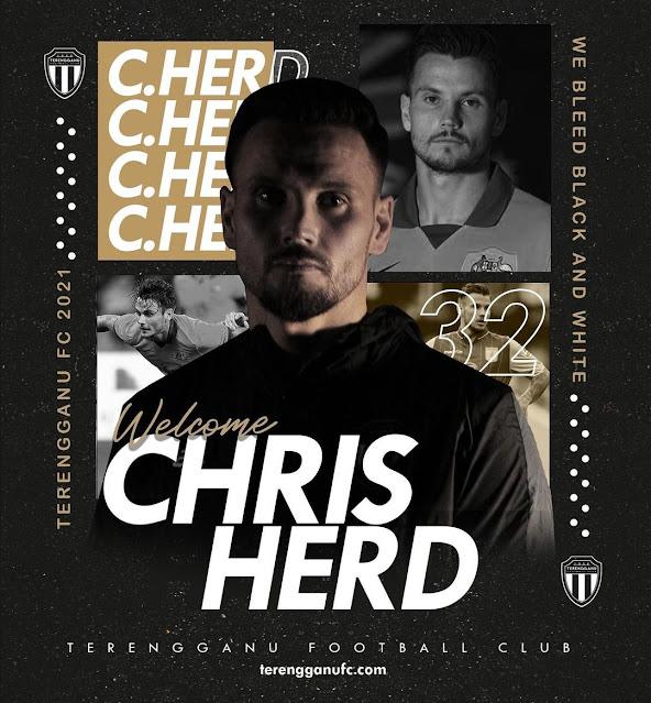 Biodata Chris Herd, Pemain Import Terengganu FC.