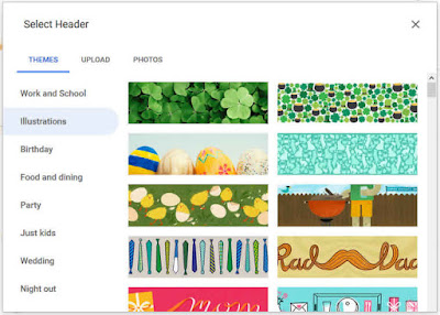 image header google form