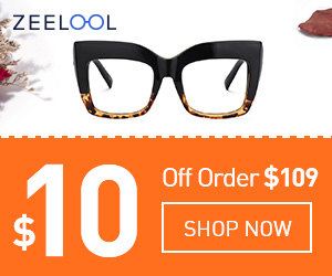 Discount coupon 10$ on Zeelool Glasses by Official Store Zeelool