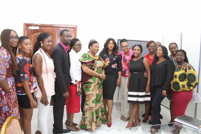 Photos : Omotola Speaks Global Brand Relevance At UGBS & visits First lady Of The Republic Of Ghana, Mrs Rebecca Akufo-Addo