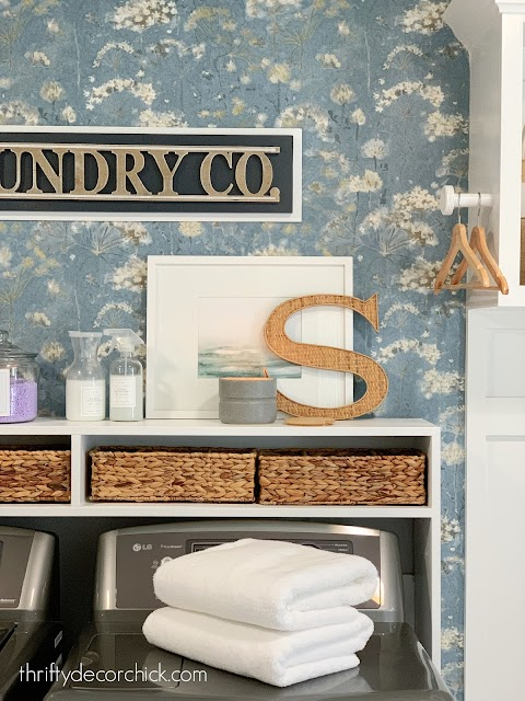 Pretty storage for laundry needs