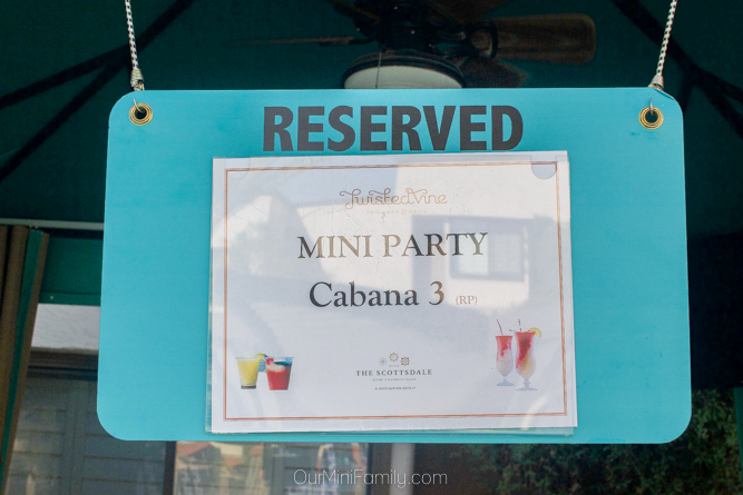 Reserved cabana sign