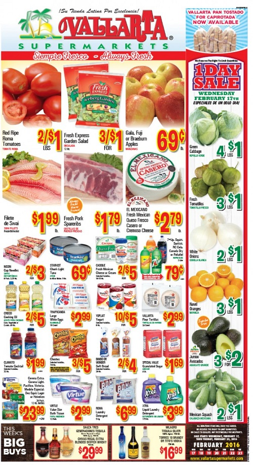Hispanic Weekly Ads: Vallarta Supermarkets Weekly Ad April 26 ...
