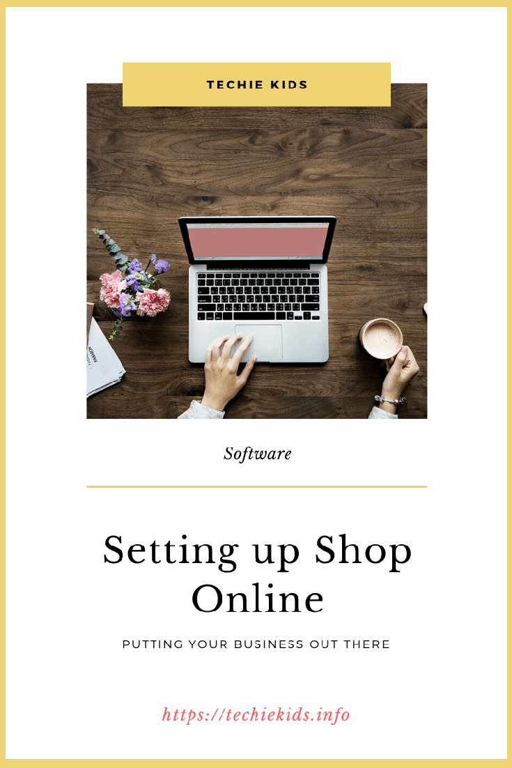 setting up shop online