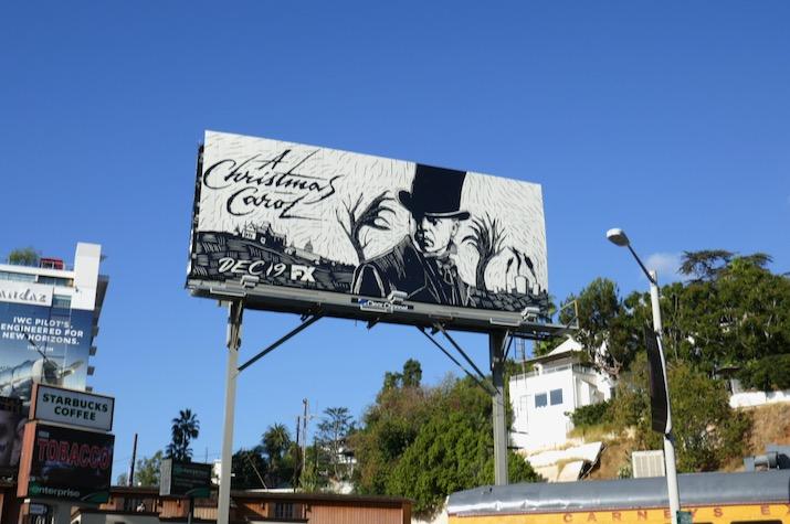 A Christmas Carol TV billboard