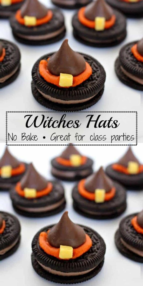 HALLOWEEN WITCH HAT COOKIES #halloweenrecipes