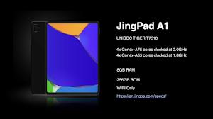 JingPad A1: spedizioni da Settembre 2021 e prezzo di $ 549