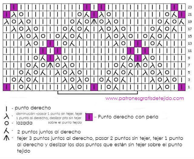 Cómo Tejer Punto Rombos con Perlas / Tutorial Dos Agujas | Crochet y ...