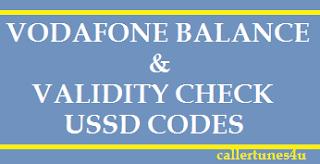 vodafone balance check code