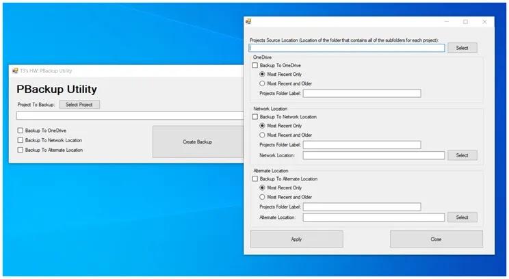 PBackup Utility : Βοηθητικό πρόγραμμα Backup