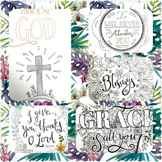 Gratitude: A Prayer and Praise Coloring Journal  sample collage 1