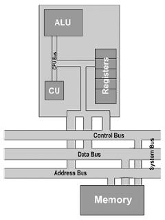 المسجلات في وحدة المعالجة المركزية - و بنية الذاكرة في المعالج