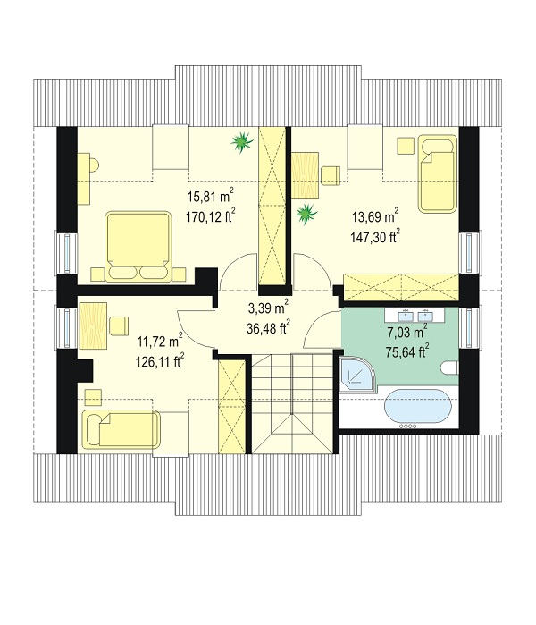 Small house floor plans are growingly attracting to homeowners who are searching a smaller house that is easier to manage. Smaller house plans are also more obtainable and appealing to those who want to retire in place or for new families just starting out. Mostly, choosing a small floor plan will increase your lifestyle by simplifying day-to-day routines. Here are the three-floor plans we offer that are perfect for your first home.