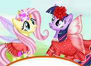 Fluttershy y Twilight Sparkle Hair Salon