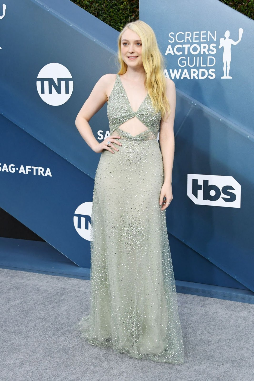 Dakota Fanning Looks Like a Mermaid IRL on the SAGs Red Carpet