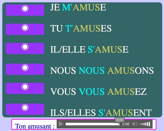 http://www.estudiodefrances.com/fle-html5/conjugaison/present-s-amuser.html