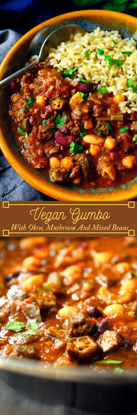 Vegan Gumbo #vegan #vegetarian #vegetable #easy #breakfast