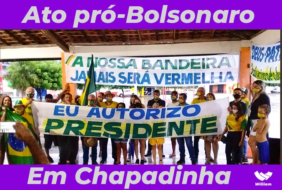 BRASIL | Movimento Conservador do Baixo Parnaíba realiza ato pro-Bolsonaro em Chapadinha