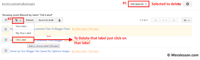 How To Rename Label or Delete In blogger