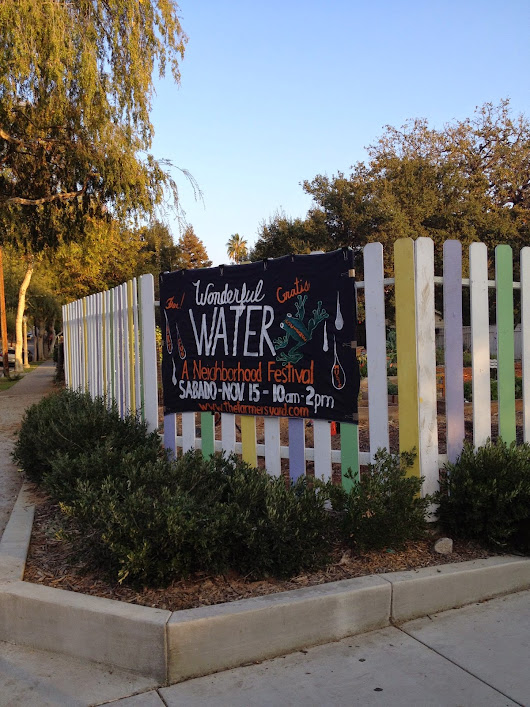 A peek through the fence: Water festival in Northwest Pasadena on Saturday