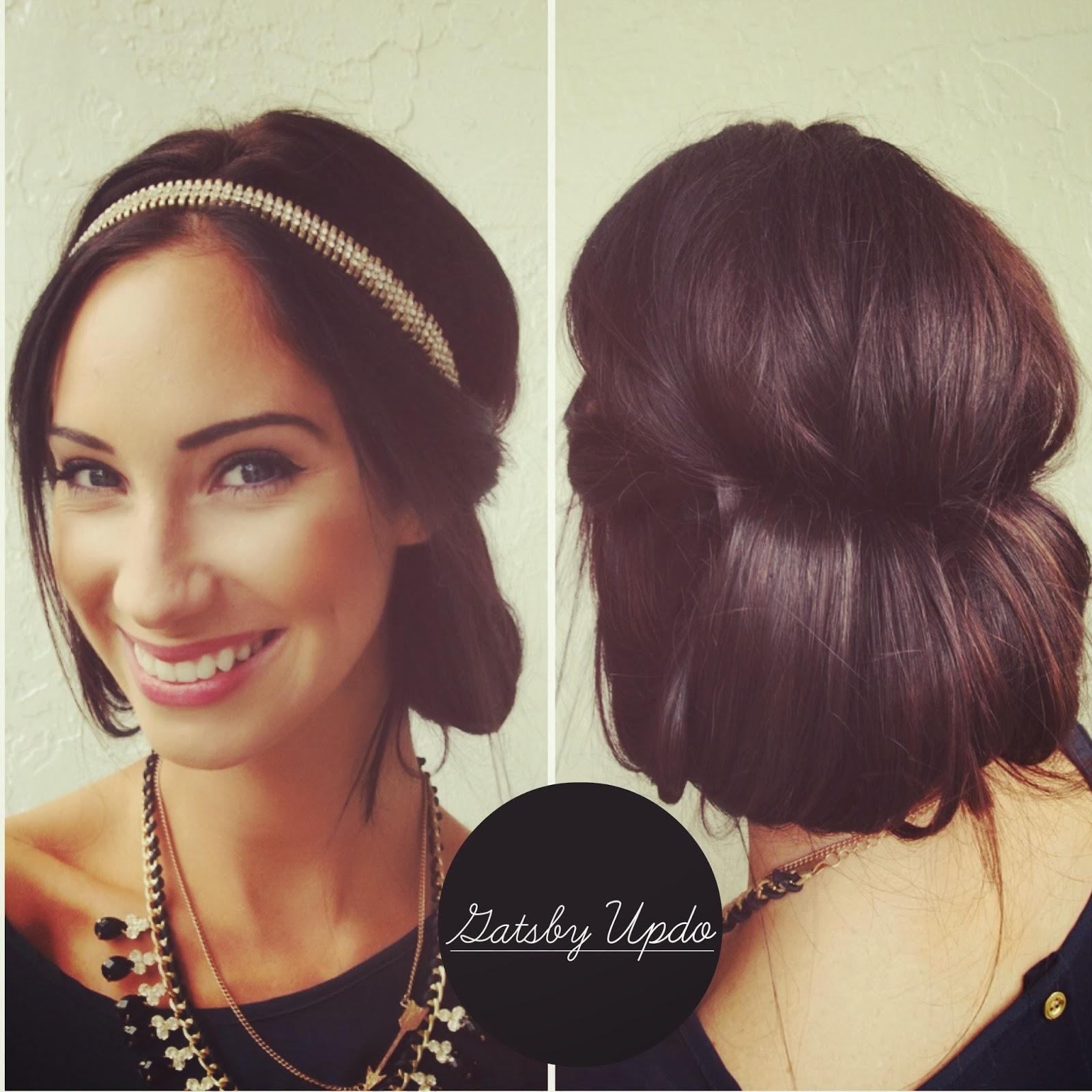 Super A Lifetime Of Rain Hair Tutorial Gatsby Updo Short Hairstyles For Black Women Fulllsitofus