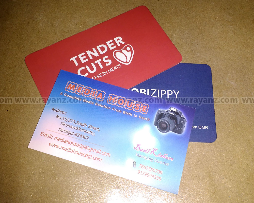 Matte laminated business cards printing in Chennai