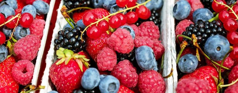 frutos del bosque con sus vitaminas