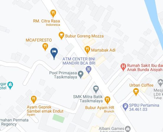 Map Letak Hotel Mandalawangi Tasikmalaya