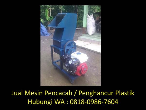 penghancur sampah plastik di bandung