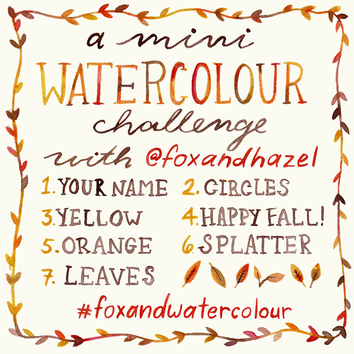 Fox & Hazel 7 Day Watercolour Challenge